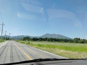 富士山ではなく那須連山です
